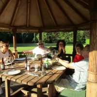 Alfresco Dining in the African Hut