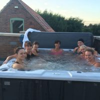 Guests Enjoying The Hot Tub
