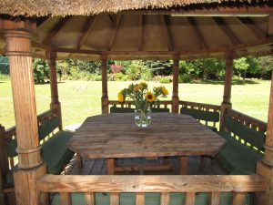 Garden African Hut large party North Yorkshire Cottages