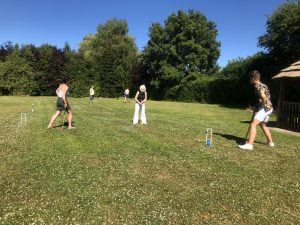 Guests Playing Croquet Family Holidays in Yorkshire