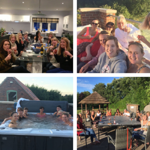 large holiday home hen party